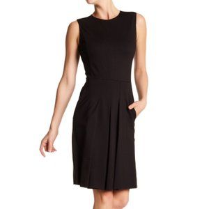 Vince Sleeveless Fitted Black Dress Size 6